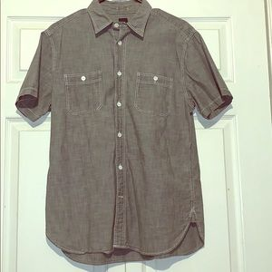 Short sleeve button down shirt.